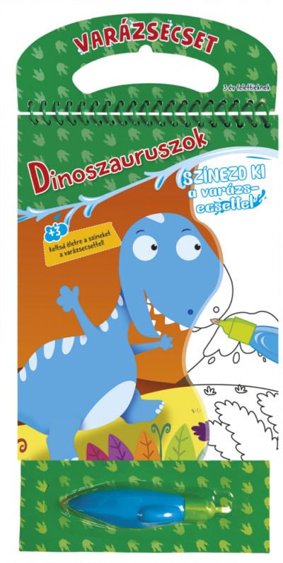 Varázsecset - Dinoszauruszok - Színezd ki a varázsecsettel