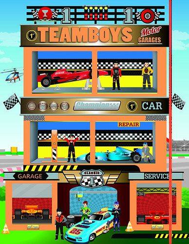 TeamBoys House - Motor Garages