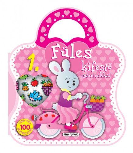 Füles kifestő matricákkal 1. - Bicikli