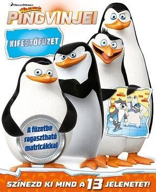 Madagaszkár pingvinjei - kifestőfüzet matricákkal