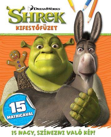 Shrek - kifestőfüzet matricákkal