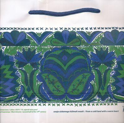 Ajándéktáska - Saaremaa-i nõi főkötő kék (nagy)