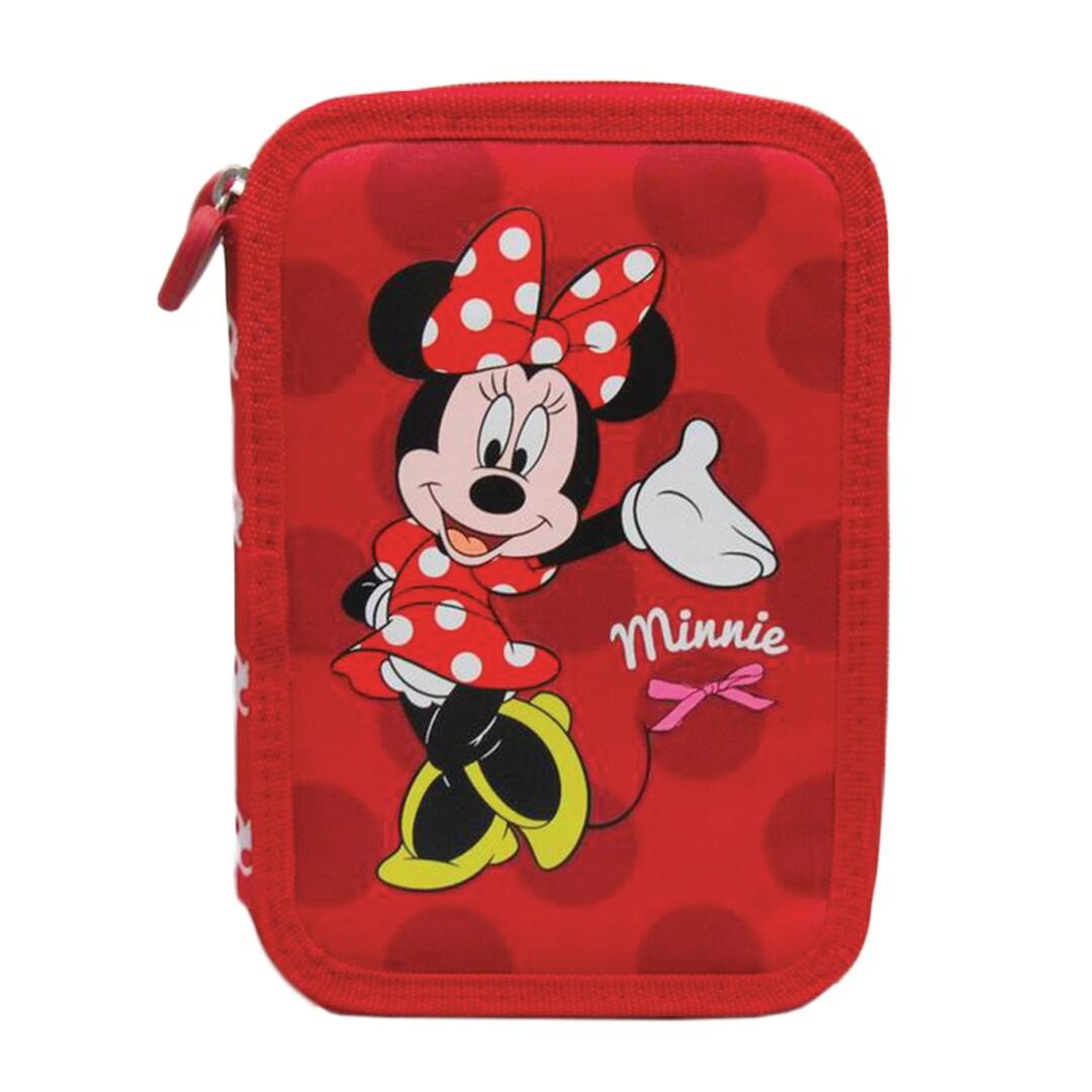 Tolltartó, töltetlen, 2 cipzáras, Disney Minnie Mouse
