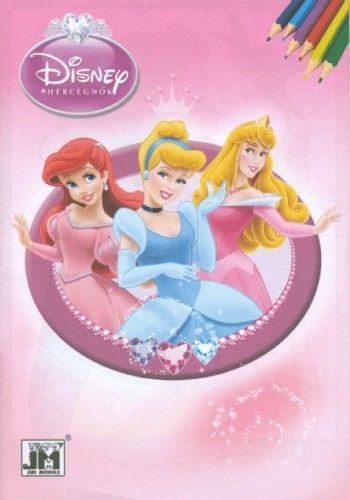 Disney Hercegnők - A5 színező