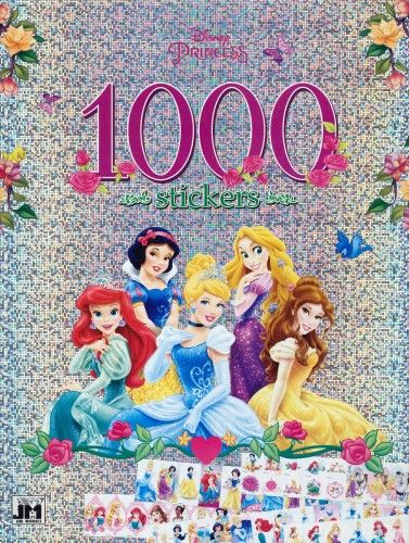 Disney Hercegnők - A4 1000 matricás színező