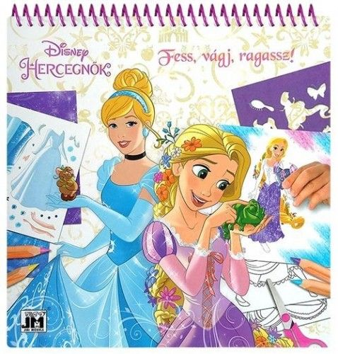 Disney Hercegnők - Kreatív matricás színező