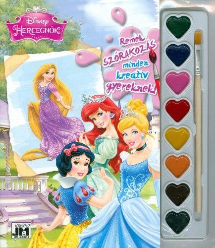Disney Hercegnők  - A5 kifestő festékkészlettel 2.