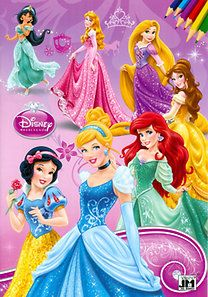 Disney Hercegnők - A4 színező