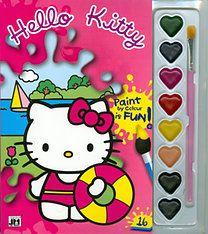 Hello Kitty - A5 kifestő vízfesték készlettel