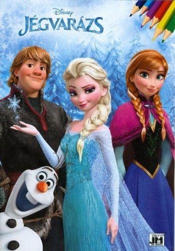Disney Jégvarázs A4 kifestő