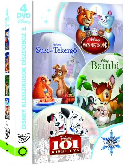 Disney klasszikusok díszdoboz 3. - 4 DVD