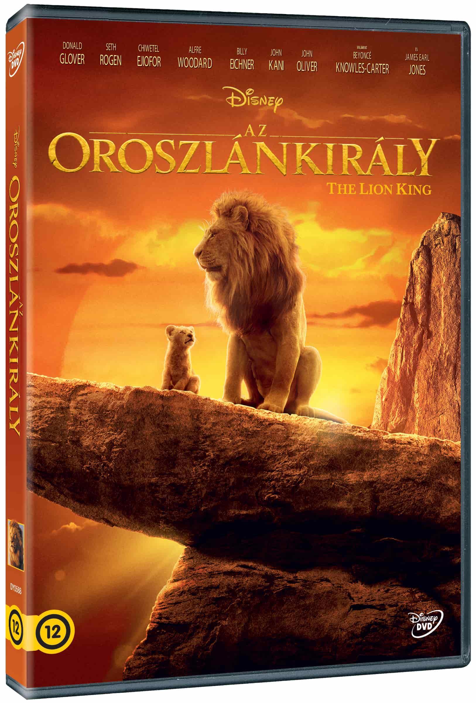 Az Oroszlánkirály (2019) - élőszereplős - DVD