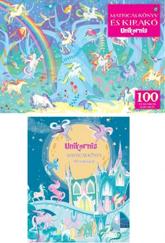 Unikornis - Matricás könyv és 100 darabos kirakó