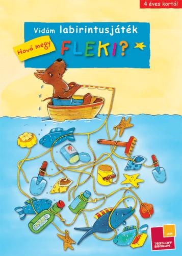Vidám labirintusjáték - Hová megy Fleki?
