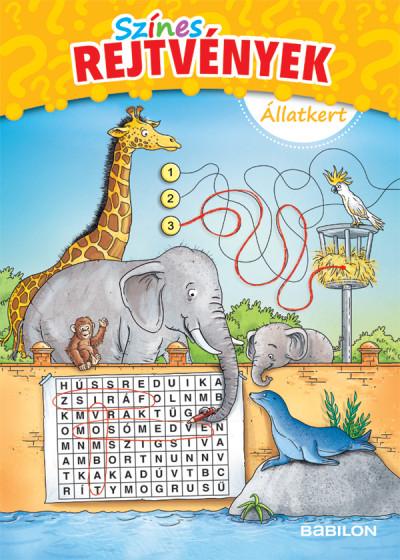 Színes rejtvények - Állatkert - 6 éves kortól