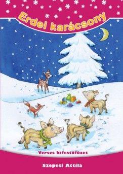 Erdei karácsony - Verses kifestőfüzet