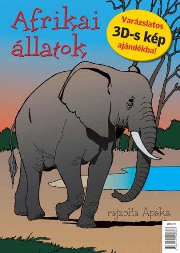 Afrikai állatok - kifestőkönyv -