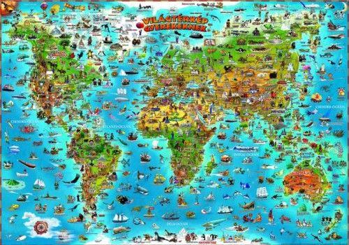 Világtérkép gyerekeknek -  pdf epub