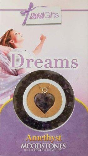 Gyógyító Kristályok Ajándékszett Karkötő és medál - Dreams Álmok, vágyak, Ametiszt