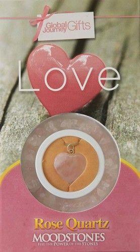 Gyógyító Kristályok Ajándékszett Karkötő és medál - Love Szeretet, szerelem, Rózsakvarc