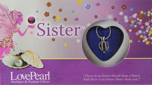 Igazgyöngy Ajándékszett - nyaklánc és medál - Sister Testvéremnek