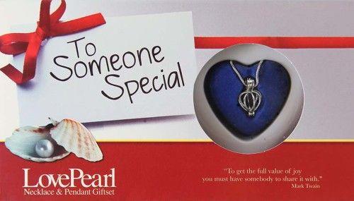 Igazgyöngy Ajándékszett - nyaklánc és medál - Someone Special Egy különleges embernek