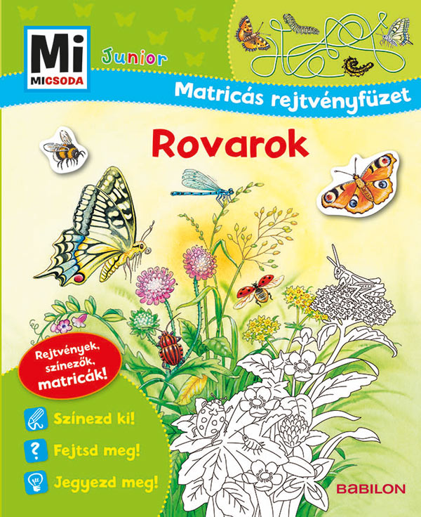 Rovarok - Mi MICSODA Junior Matricás rejtvényfüzet