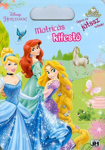 Disney Hercegnők - A4 színező mappa