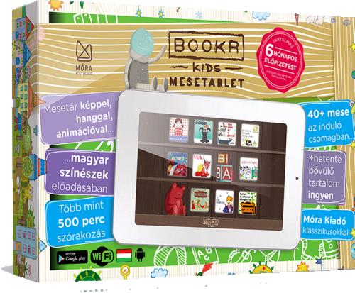 BOOKR Kids Mesetablet 8GB Wifi, zöld (Android) + fél éves BOOKR Kids mesetár előfizetés -  pdf epub