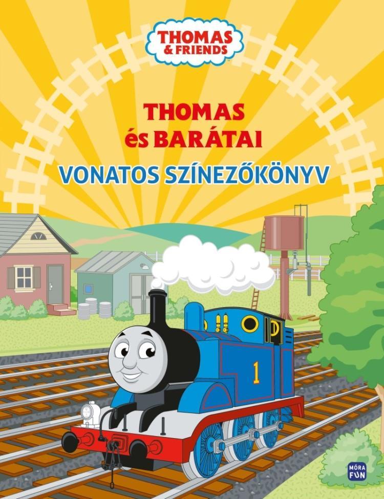 Thomas és barátai - Vonatos színezőkönyv