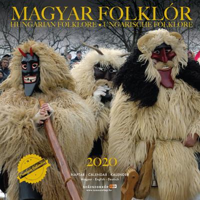 Magyar Folklór prémium naptár 2020 - 22x22 cm