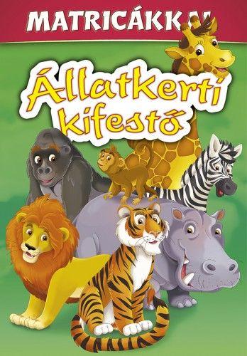 Állatkerti kifestő matricákkal