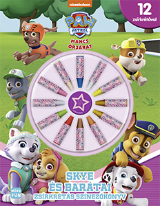 Mancs őrjárat - Skye és barátai - zsírkrétás színezőkönyv