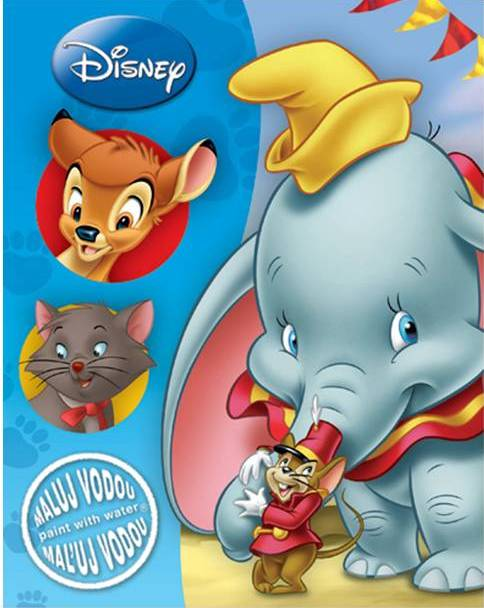 Disney Állatok vízes A/4 - kifestő
