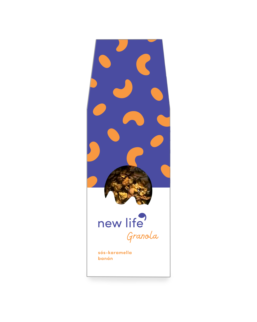 New Life Granola - sós-karamellás - banános