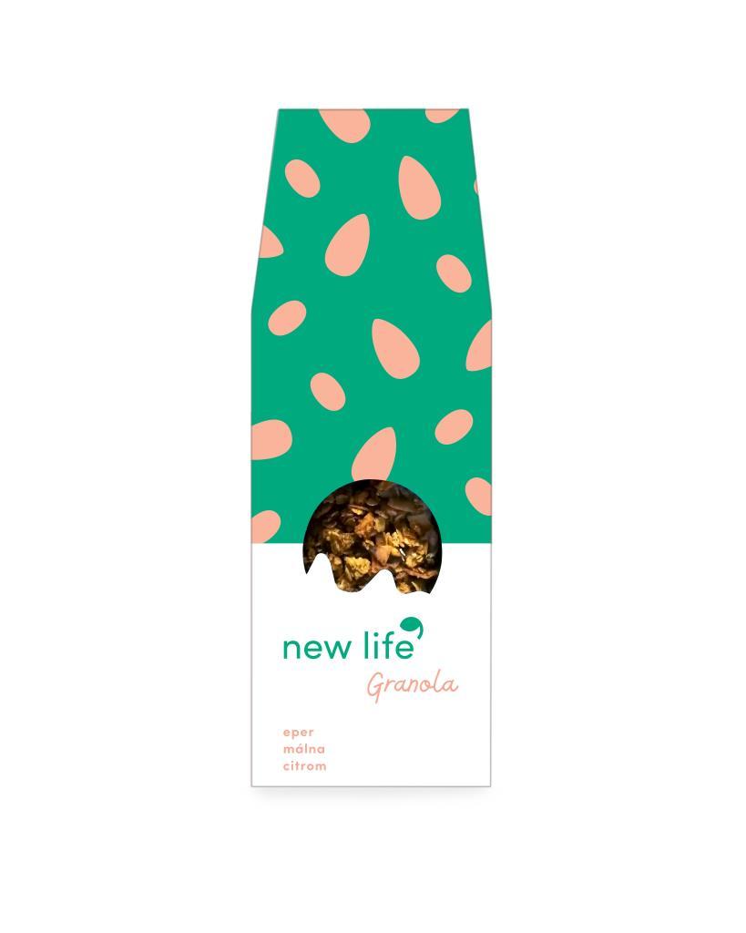 New Life Granola - epres-málnás-citromos