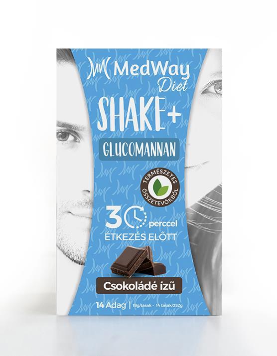 MedWay Diet Shake - Csokoládé ízű, glükomannannal